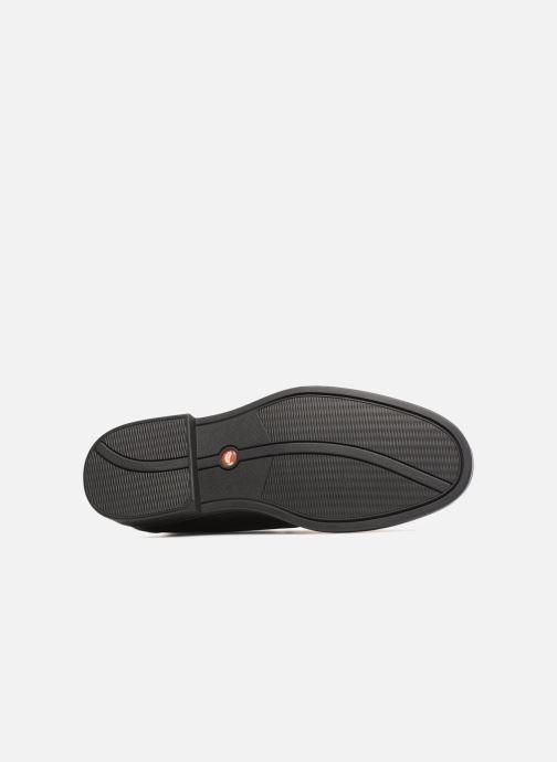 Zapatos con cordones Clarks Unstructured Un Aldric Cap Negro vista de arriba
