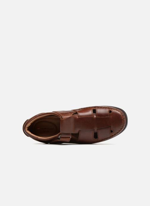 Slipper Clarks Unstructured Un Gala Strap braun ansicht von links