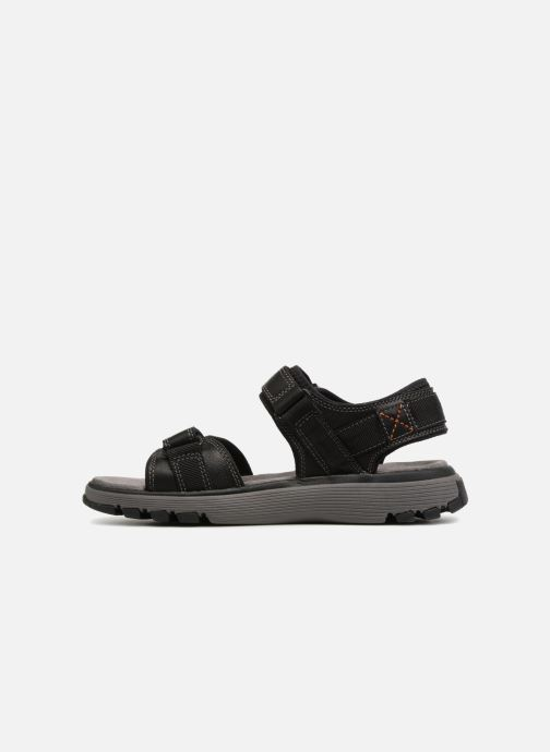 Sandalen Clarks Unstructured Un Trek Part Zwart voorkant