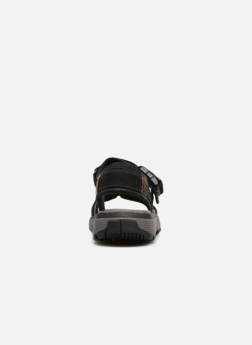 Sandales et nu-pieds Clarks Unstructured Un Trek Part Noir vue droite
