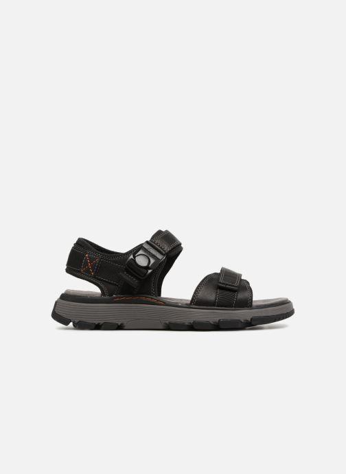 Sandales et nu-pieds Clarks Unstructured Un Trek Part Noir vue derrière