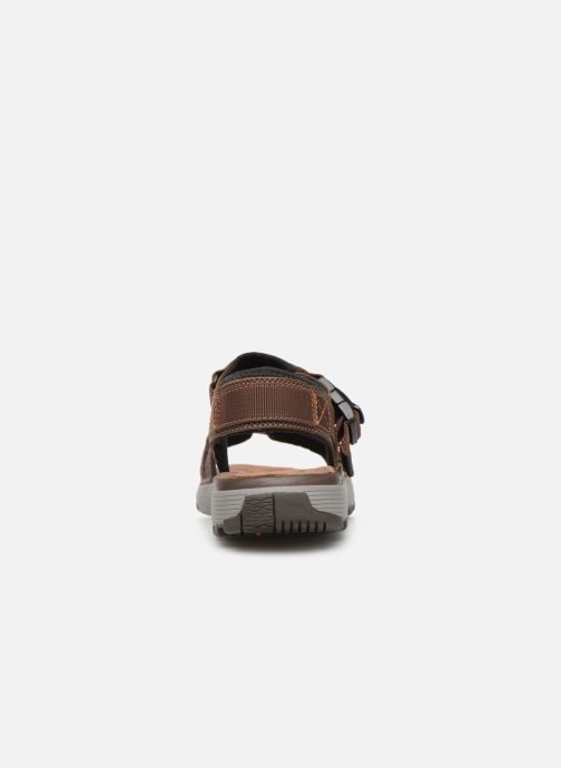 Sandalias Clarks Unstructured Un Trek Part Marrón vista lateral derecha