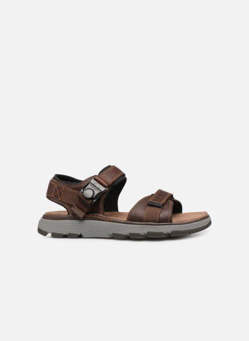 Sandales et nu-pieds Clarks Unstructured Un Trek Part Marron vue derrière