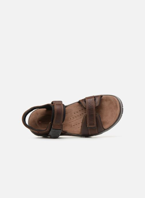 Sandalias Clarks Unstructured Un Trek Part Marrón vista lateral izquierda