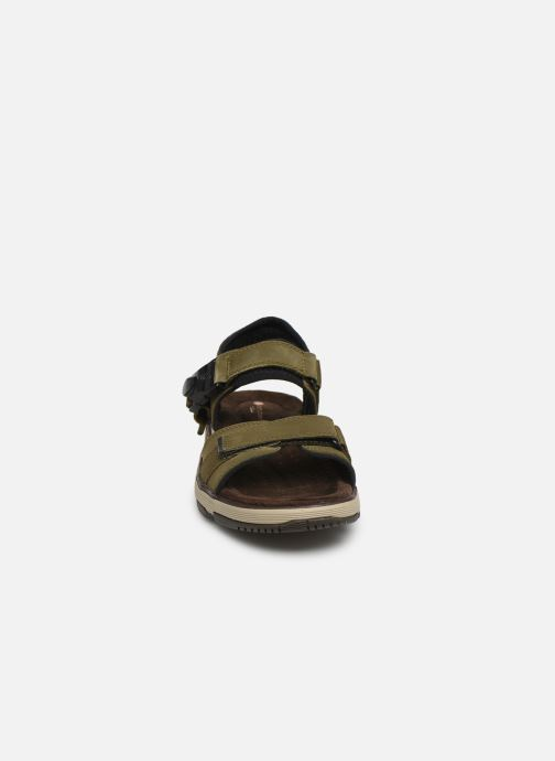 Sandales et nu-pieds Clarks Unstructured Un Trek Part Vert vue portées chaussures