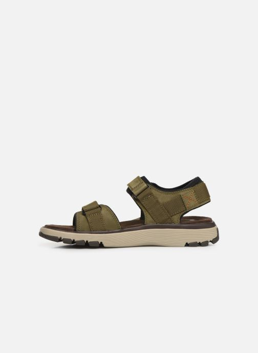 Sandalias Clarks Unstructured Un Trek Part Verde vista de frente