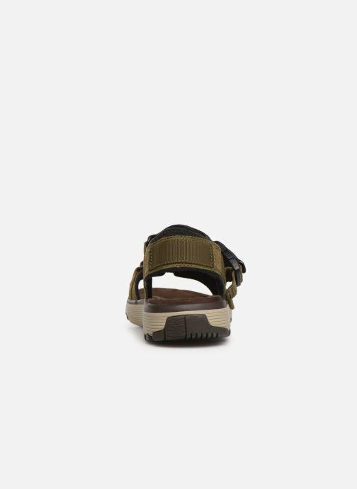 Sandales et nu-pieds Clarks Unstructured Un Trek Part Vert vue droite