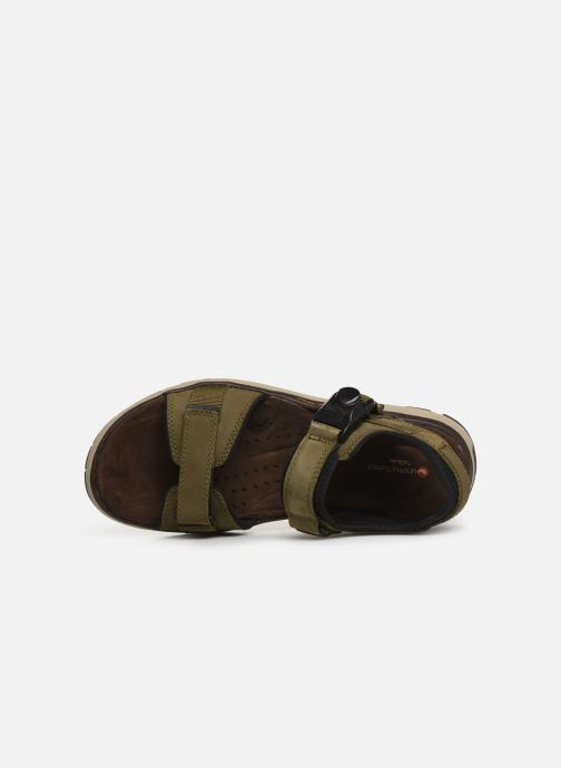Sandalias Clarks Unstructured Un Trek Part Verde vista lateral izquierda