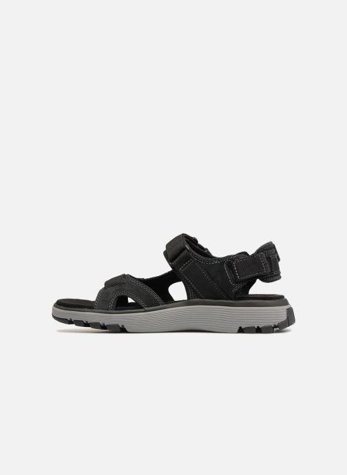 Sandales et nu-pieds Clarks Unstructured Un Trek Bar Noir vue face