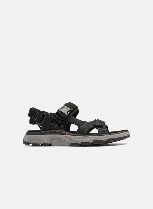 Sandales et nu-pieds Clarks Unstructured Un Trek Bar Noir vue derrière