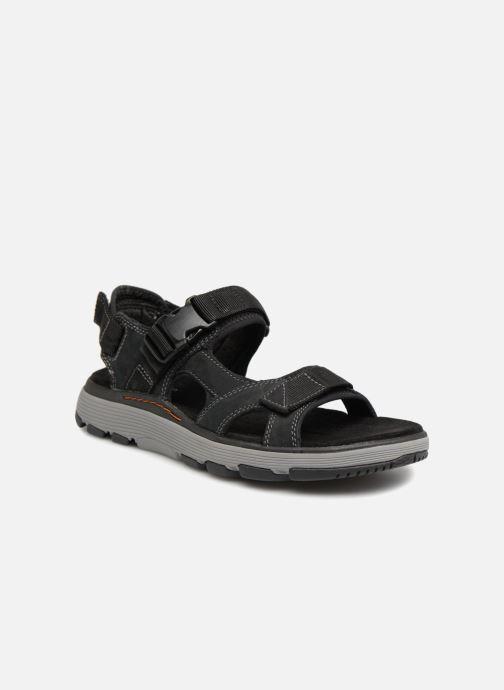 Sandales et nu-pieds Clarks Unstructured Un Trek Bar Noir vue détail/paire