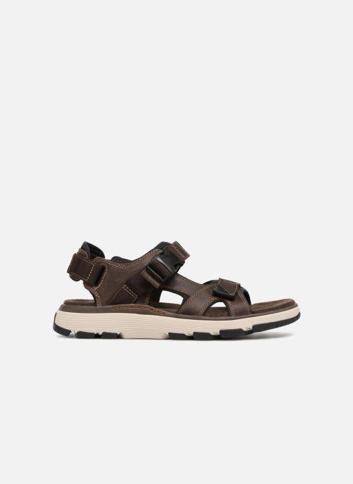 Sandales et nu-pieds Clarks Unstructured Un Trek Bar Marron vue derrière