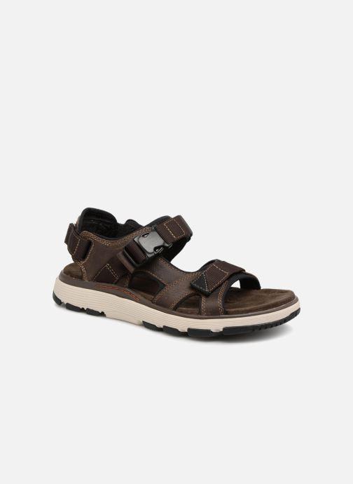 Sandales et nu-pieds Clarks Unstructured Un Trek Bar Marron vue détail/paire