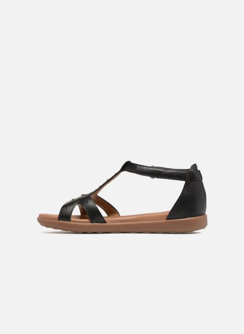 Sandales et nu-pieds Clarks Unstructured Un Reisel Mara Noir vue face