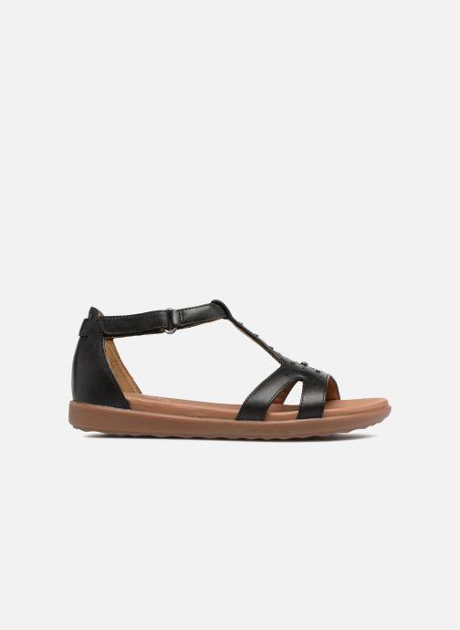 Sandales et nu-pieds Clarks Unstructured Un Reisel Mara Noir vue derrière