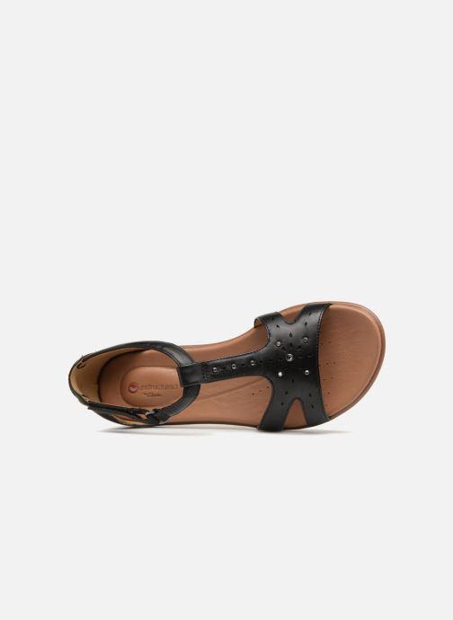 Sandales et nu-pieds Clarks Unstructured Un Reisel Mara Noir vue gauche