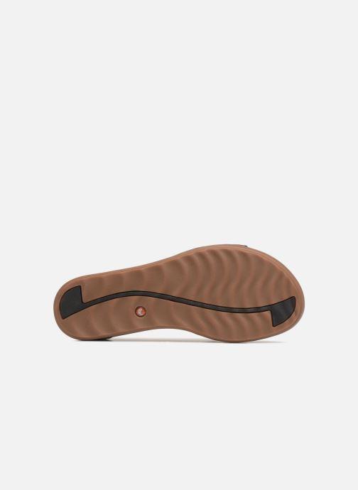 Sandales et nu-pieds Clarks Unstructured Un Reisel Mara Noir vue haut