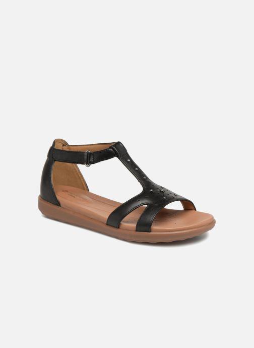 Sandales et nu-pieds Clarks Unstructured Un Reisel Mara Noir vue détail/paire