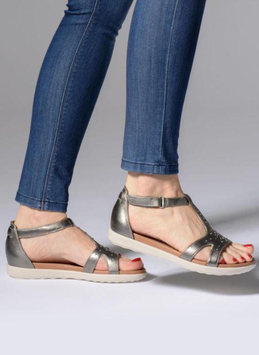 Sandales et nu-pieds Clarks Unstructured Un Reisel Mara Argent vue bas / vue portée sac