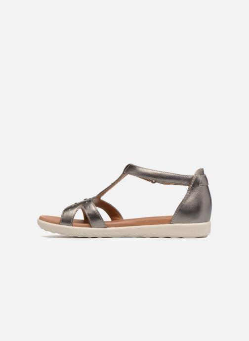 Sandales et nu-pieds Clarks Unstructured Un Reisel Mara Argent vue face