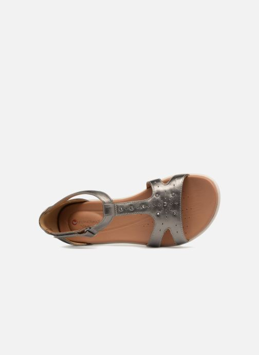 Sandales et nu-pieds Clarks Unstructured Un Reisel Mara Argent vue gauche