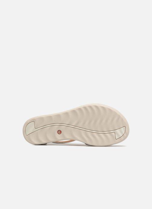 Sandales et nu-pieds Clarks Unstructured Un Reisel Mara Argent vue haut