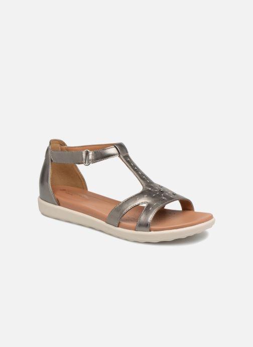 Sandales et nu-pieds Clarks Unstructured Un Reisel Mara Argent vue détail/paire