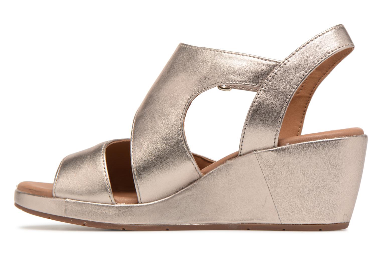 Sandales et nu-pieds Clarks Unstructured Un Plaza Sling Or et bronze vue face