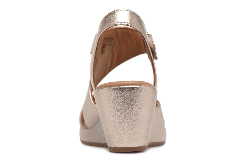 Sandales et nu-pieds Clarks Unstructured Un Plaza Sling Or et bronze vue droite