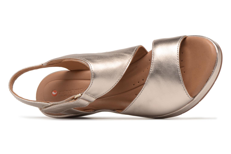 Sandales et nu-pieds Clarks Unstructured Un Plaza Sling Or et bronze vue gauche