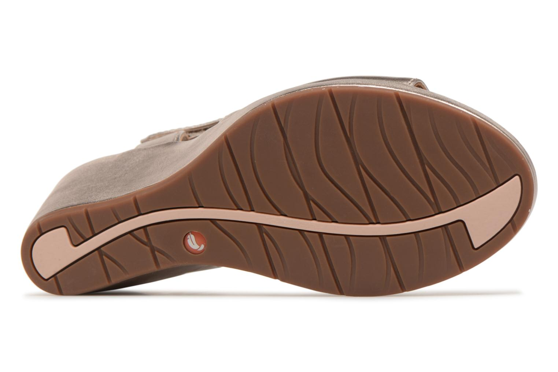 Sandales et nu-pieds Clarks Unstructured Un Plaza Sling Or et bronze vue haut