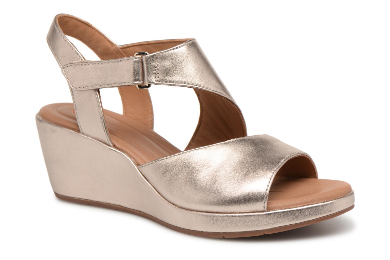 Sandales et nu-pieds Clarks Unstructured Un Plaza Sling Or et bronze vue détail/paire