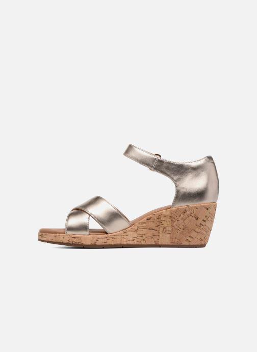 Sandales et nu-pieds Clarks Unstructured Un Plaza Cross Or et bronze vue face