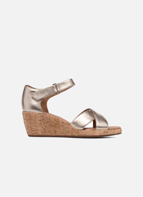 Sandales et nu-pieds Clarks Unstructured Un Plaza Cross Or et bronze vue derrière
