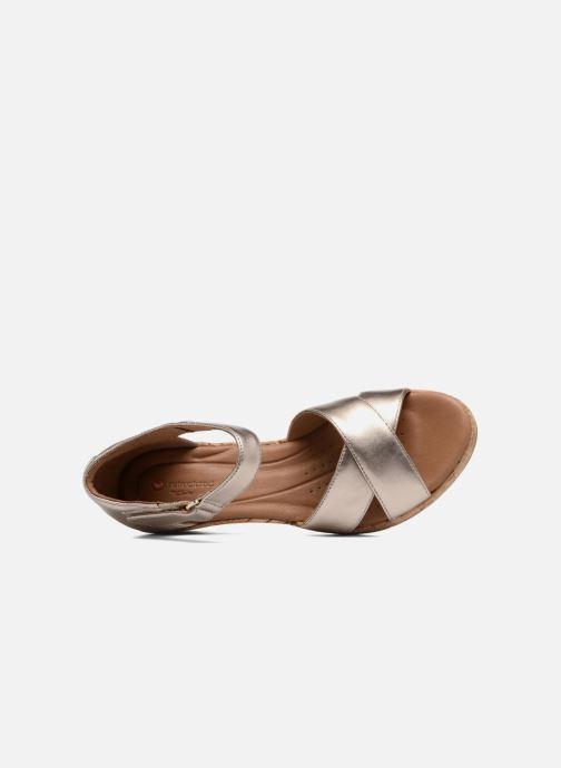 Sandales et nu-pieds Clarks Unstructured Un Plaza Cross Or et bronze vue gauche