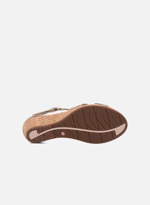 Sandales et nu-pieds Clarks Unstructured Un Plaza Cross Or et bronze vue haut