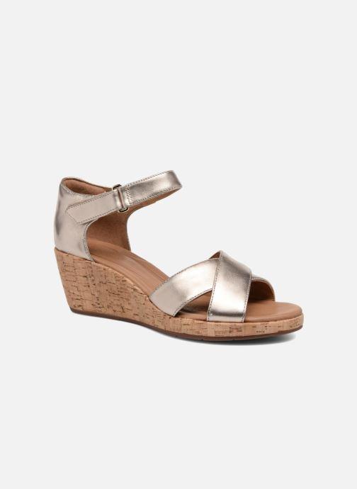 Sandales et nu-pieds Clarks Unstructured Un Plaza Cross Or et bronze vue détail/paire