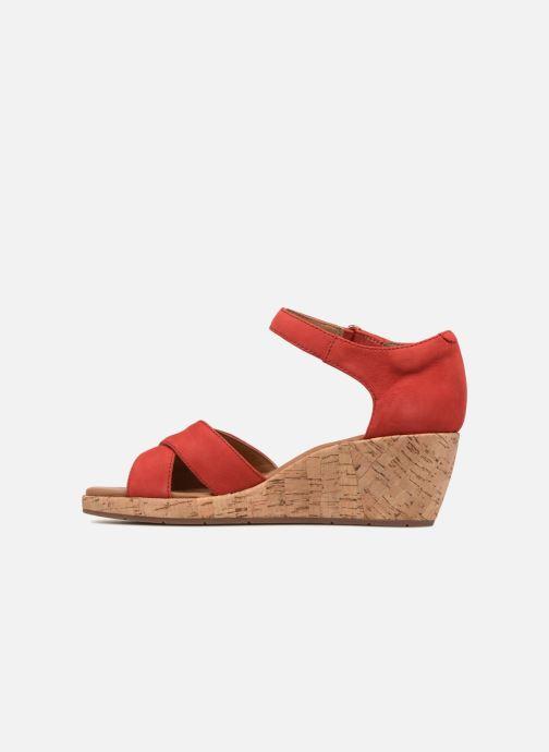 Sandales et nu-pieds Clarks Unstructured Un Plaza Cross Rouge vue face