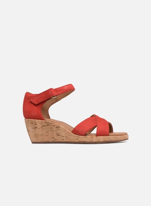 Sandales et nu-pieds Clarks Unstructured Un Plaza Cross Rouge vue derrière