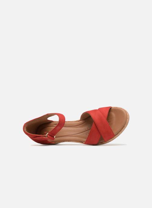 Sandales et nu-pieds Clarks Unstructured Un Plaza Cross Rouge vue gauche