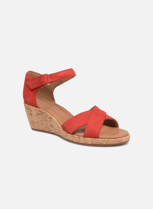 Sandales et nu-pieds Clarks Unstructured Un Plaza Cross Rouge vue détail/paire