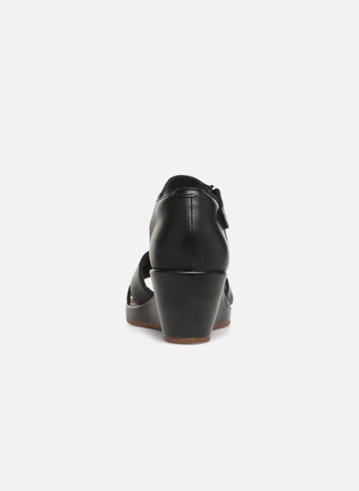 Sandales et nu-pieds Clarks Unstructured Un Plaza Cross Noir vue droite