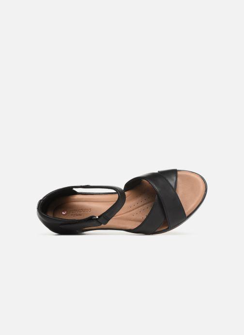 Sandales et nu-pieds Clarks Unstructured Un Plaza Cross Noir vue gauche