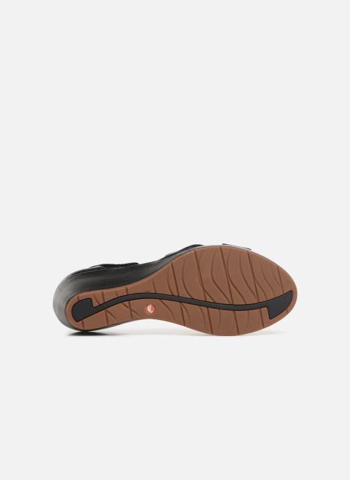 Sandales et nu-pieds Clarks Unstructured Un Plaza Cross Noir vue haut