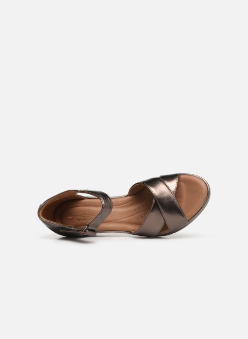 Unstructured Un Cross Nu Sandales pieds Metallic Pebble Et Clarks Plaza Leather gyvI7mYbf6