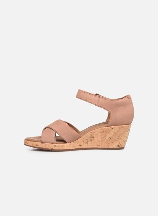 Sandals Clarks Unstructured Un Plaza Cross Pink front view