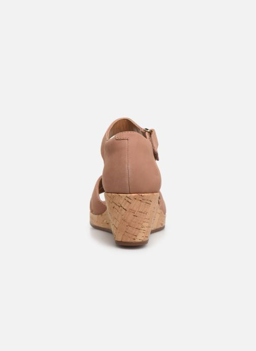 Sandals Clarks Unstructured Un Plaza Cross Pink view from the right