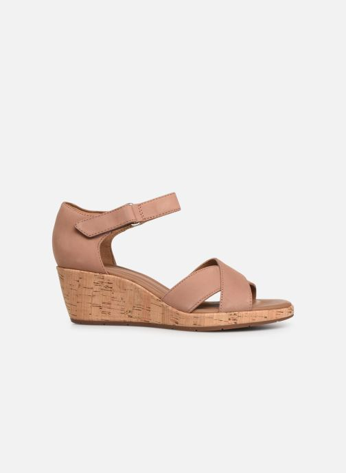 Sandals Clarks Unstructured Un Plaza Cross Pink back view