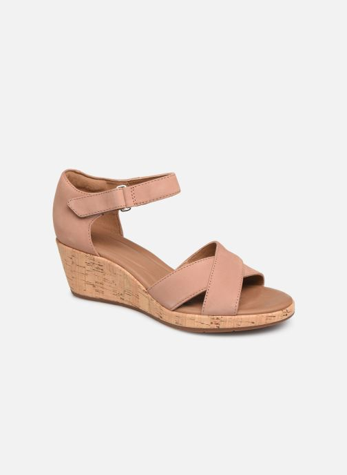Sandals Clarks Unstructured Un Plaza Cross Pink detailed view/ Pair view