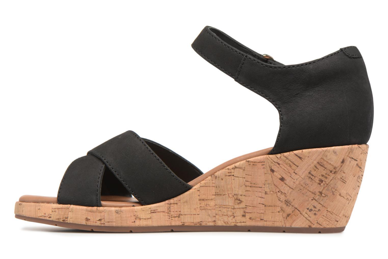 Sandales et nu-pieds Clarks Unstructured Un Plaza Cross Noir vue face